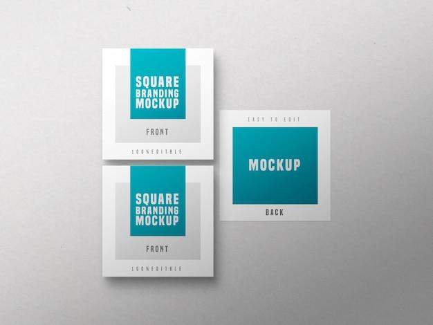 Makieta wielu wizytówek kwadratowych