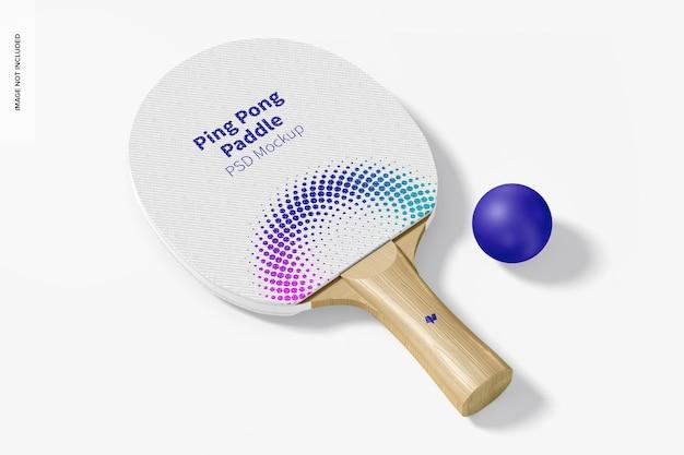 Makieta wiosła do ping-ponga