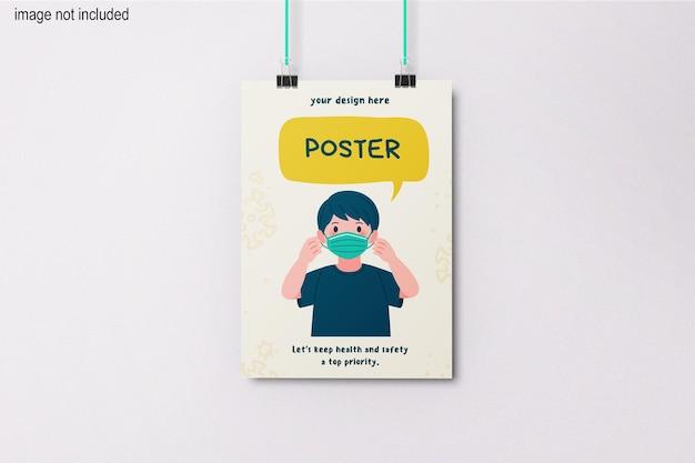 Makieta wiszącego plakatu a2