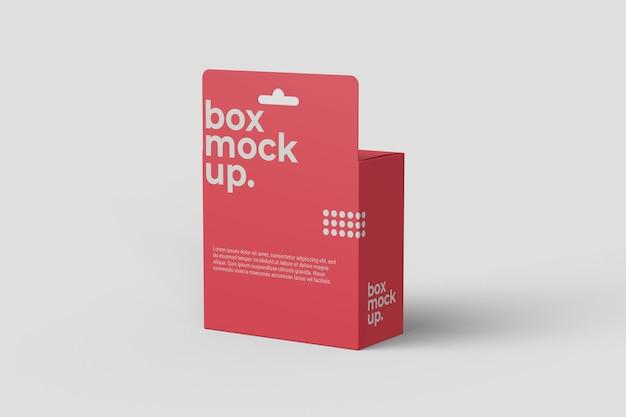 Makieta wiszącego pudełka, widok pod kątem prostym od tyłu