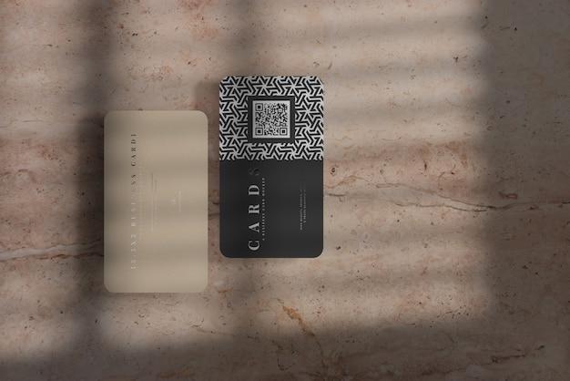 Makieta wizytówek z zaokrąglonymi rogami