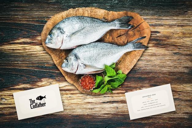 Makieta wizytówka owoce morza restauracja