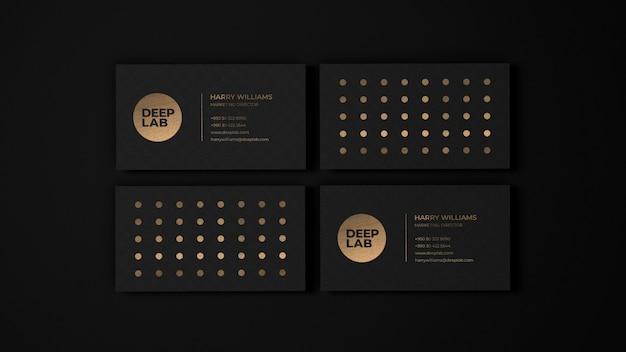 Makieta wizytówki black luxury premium