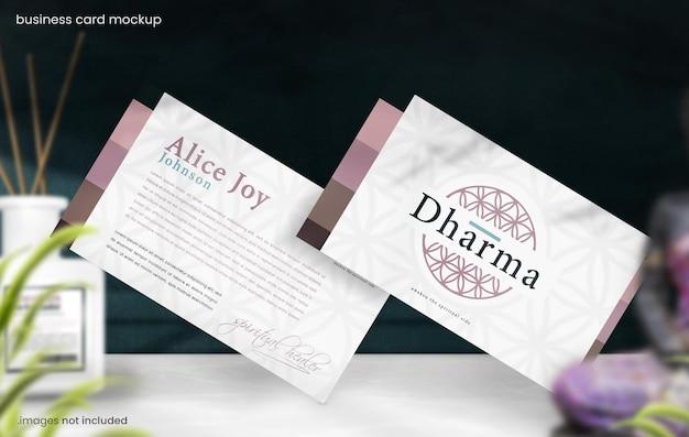 Makieta wizytówki dla eastern spiritual branding concept
