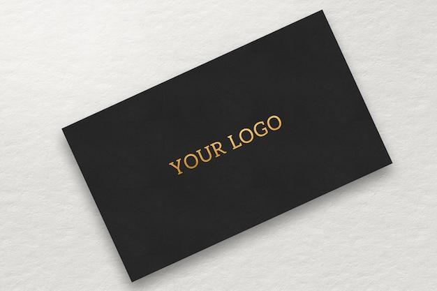 Makieta wizytówki i logo złoty efekt
