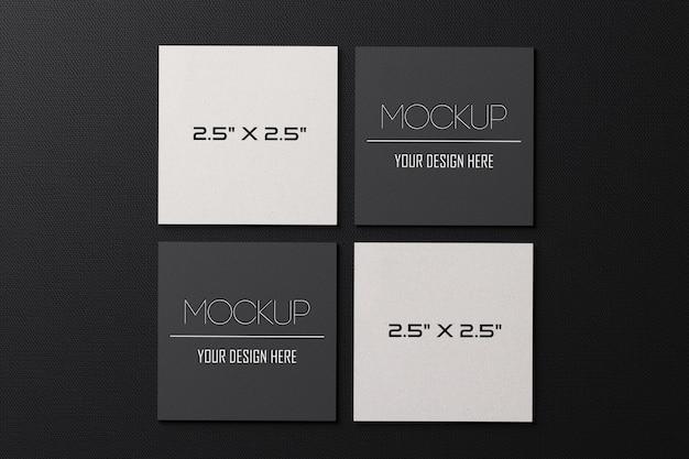 Makieta wizytówki kwadratowych papieru