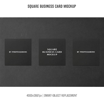 Makieta wizytówki kwadratowych