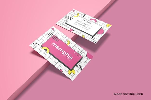 Makieta wizytówki na białym tle
