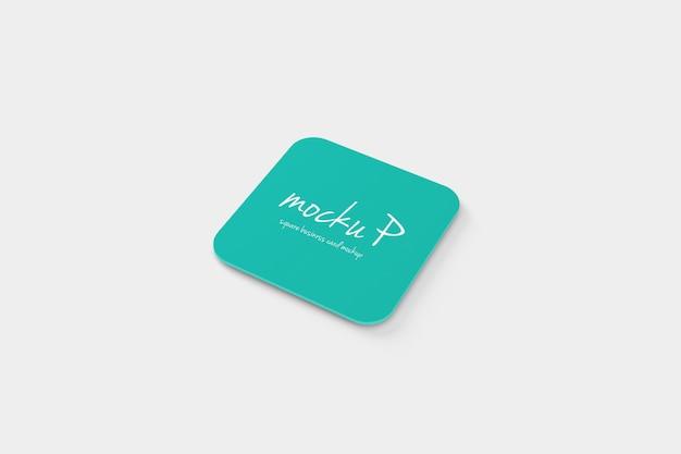 Makieta Wizytówka 10mm Okrągły Narożnik Pliki Psd Premium