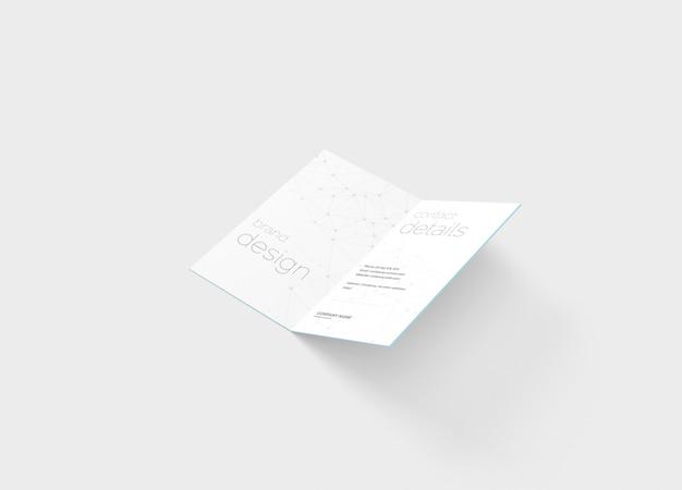 Makieta wizytówki składanej
