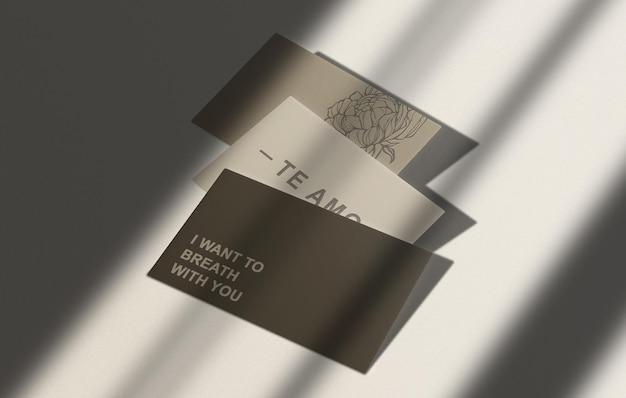 Makieta wizytówki tłoczona