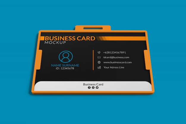 Makieta wizytówki w uchwycie na identyfikator