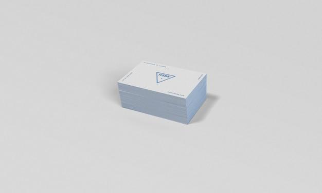 Makieta wizytówki z edytowalnym kolorem