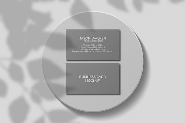 Makieta wizytówki z nakładką cienia