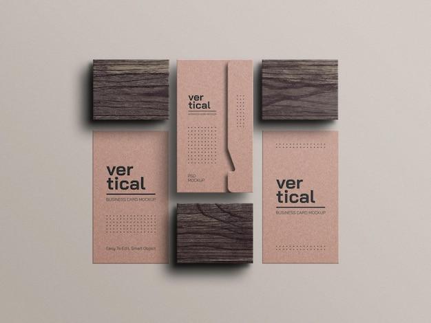 Makieta wizytówki z papieru kraft