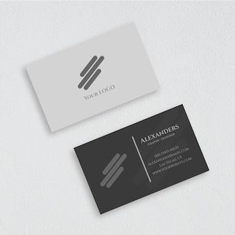 Makieta wizytówki z przodu iz tyłu