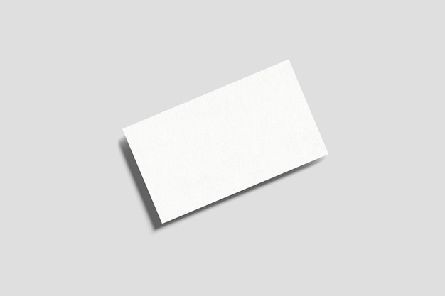 Makieta wizytówki z widokiem z góry