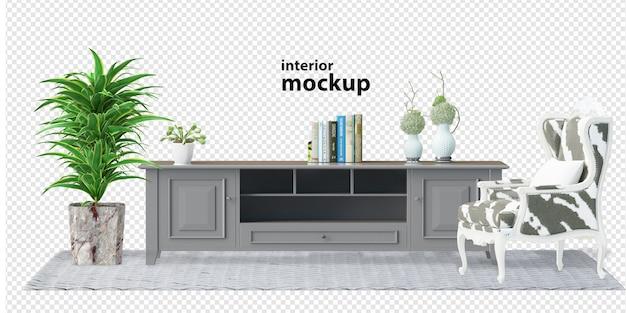 Makieta wnętrza renderowania 3d