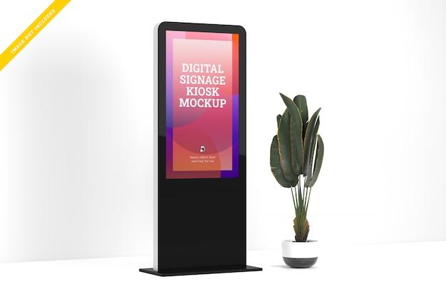 Makieta wyświetlacza led digital signage.