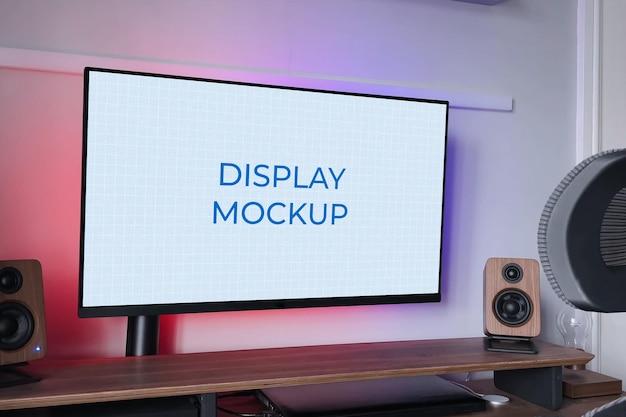 """Makieta wyświetlacza monitora komputer typu """"wszystko w jednym"""""""