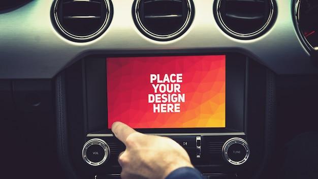Makieta Wyświetlacza Nawigacji Samochodowej Premium Psd
