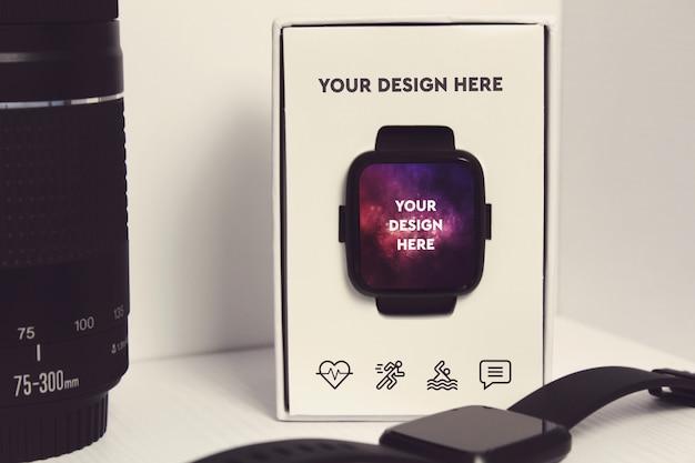 Makieta wyświetlacza smartwatch