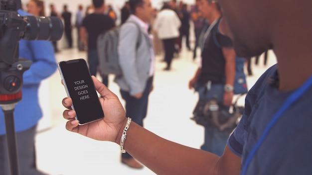 Makieta wyświetlacza telefonu