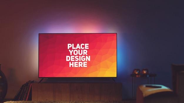 Makieta wyświetlacza telewizyjnego