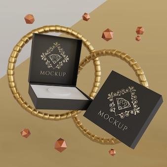 Makieta wyświetlania opakowań biżuterii