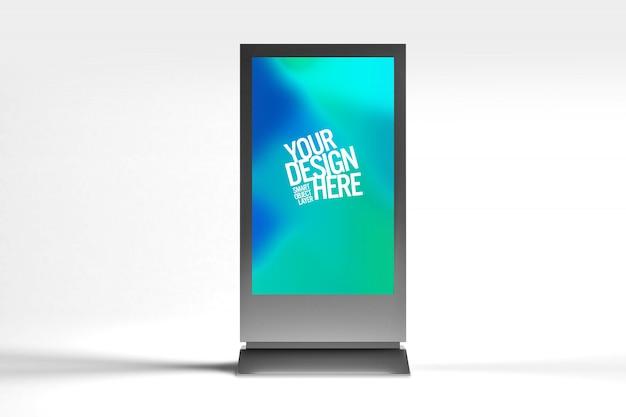 Makieta wyświetlania reklamy ekranowej