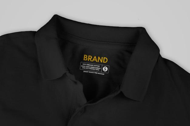 Makieta z czarną koszulką polo