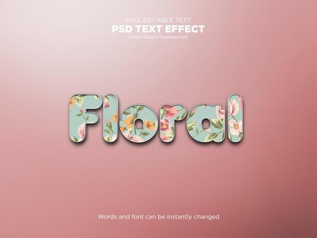 Makieta z kwiatowym efektem tekstowym