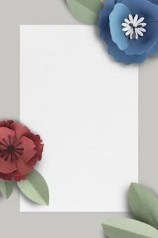 Makieta z szarym banerem ozdobiona kwiatami