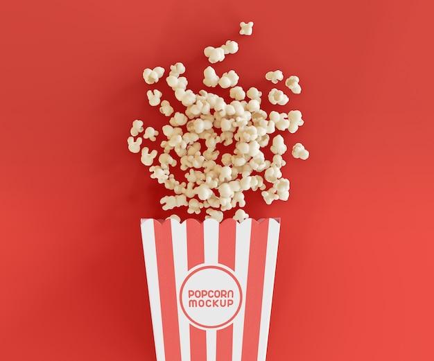 Makieta z wiadrem do popcornu