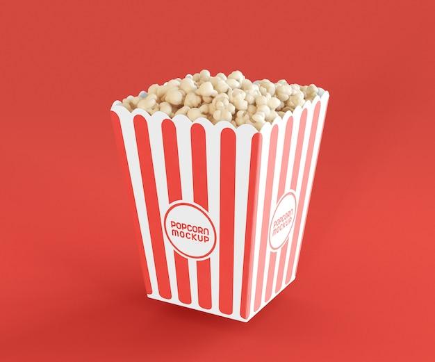 Makieta z wiadrem popcornu