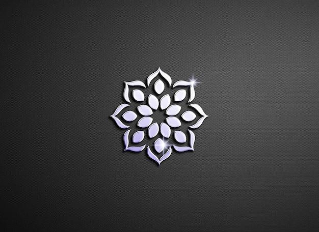 Makieta z wytłoczonym logo z efektem połysku