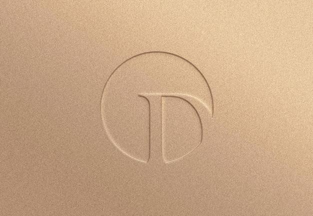 Makieta z wytłoczonym logo