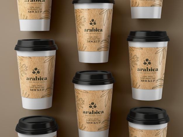 Makieta zabierz papierowy kubek do kawy