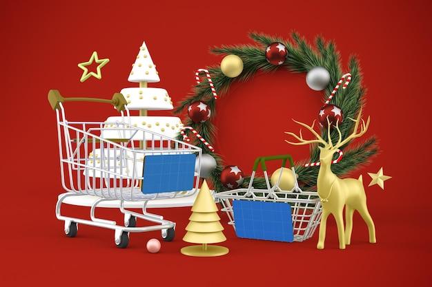 Makieta zakupów świątecznych