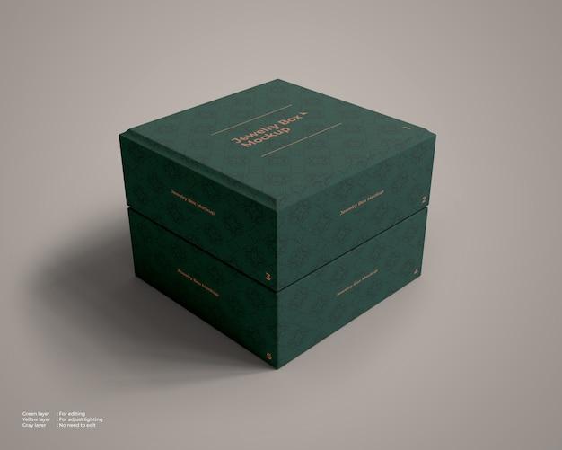 Makieta zamkniętego pudełka z biżuterią