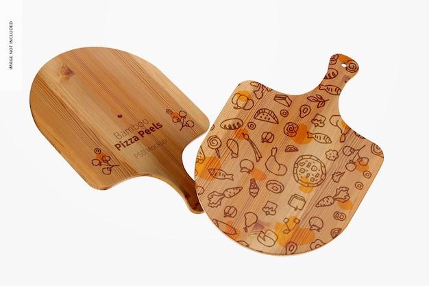 Makieta ze skórek do pizzy z bambusa, pływająca