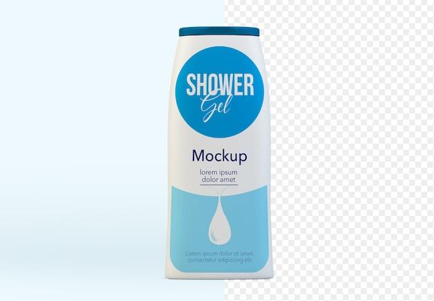 Makieta żelu pod prysznic na białym tle