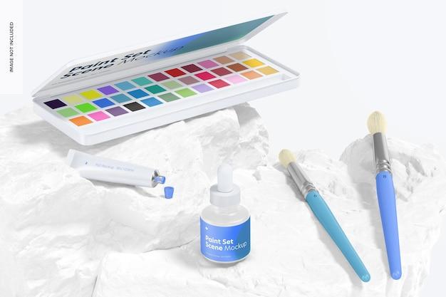 Makieta zestawu farb