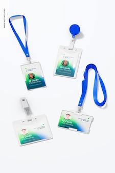 Makieta zestawu kart identyfikacyjnych