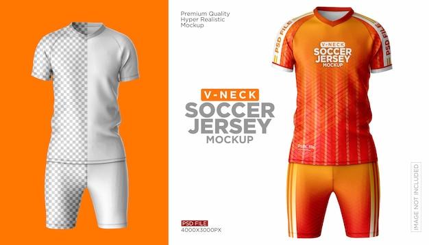 Makieta zestawu koszulki piłkarskiej