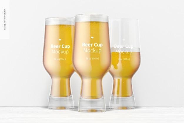 Makieta zestawu szklanek piwa o pojemności 18 uncji
