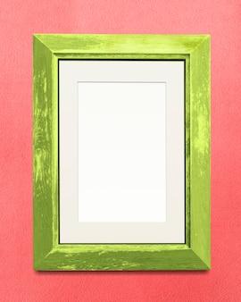 Makieta zielonej ramki na zdjęcia
