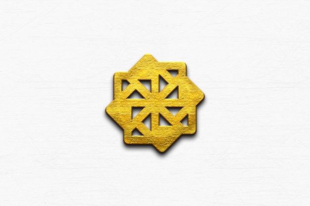 Makieta złote logo 3d