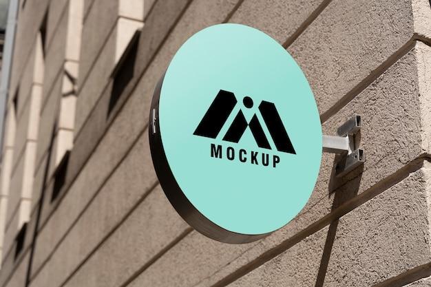 Makieta znaków biznesowych miasta