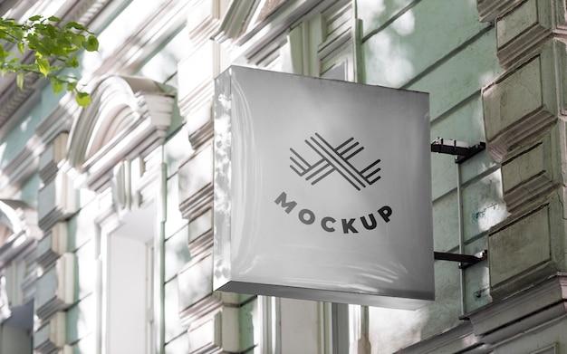 Makieta znaku biznesowego ulicy